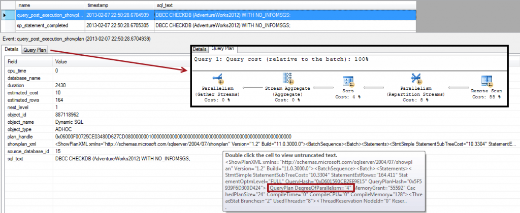checkdb isparallel 1024x420 SQL Server Maintenance Plans and Parallelism   CHECKDB