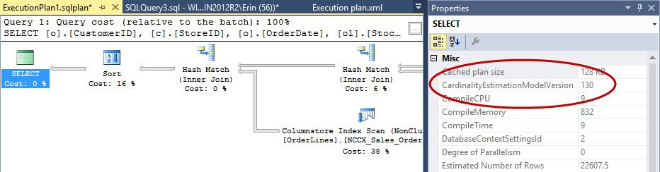 Execution plan using the new CE