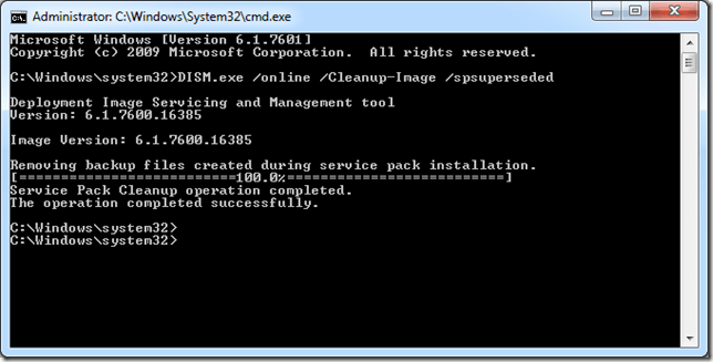 image thumb1 How to Reclaim Disk Space in your Windows\winsxs directory on Windows Server 2008 R2 SP1