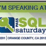 Speaking at SQLSaturday #201 in Orange County on April 19-20