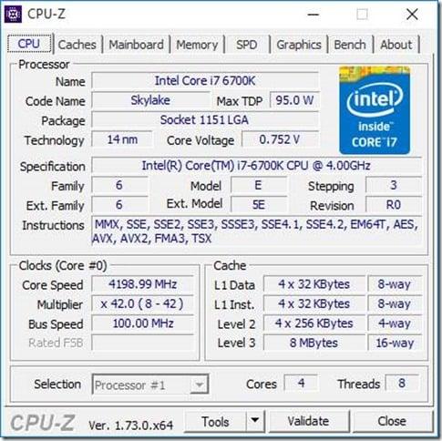 Building a z170 desktop system with a core i7 6700k skylake processor
