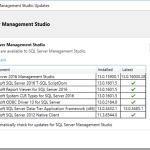 SQL Server Management Studio Changes and Servicing