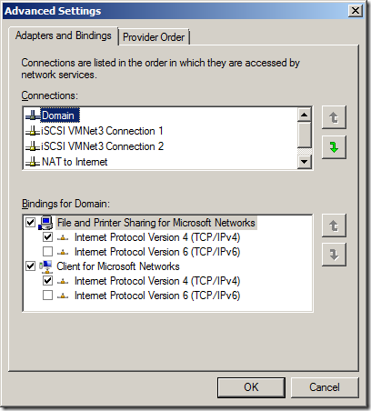 Network Binding Order Warning during SQL Server Failover Cluster Setup   image thumb