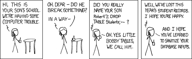 exploits of a mom Little Bobby Tables, SQL Injection and EXECUTE AS