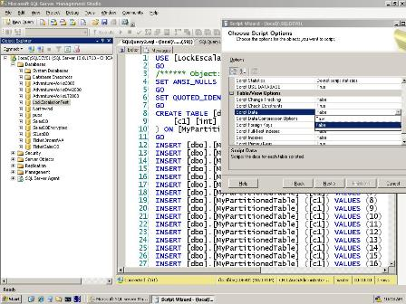 scriptdatasmall Scripting schema AND data with SSMS in SQL 2008
