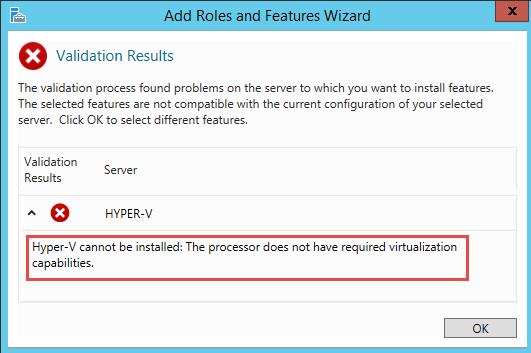 How to run Windows Server 2012 Hyper-V on VMware Workstation