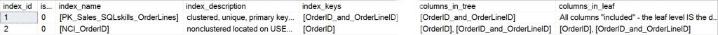 Nonclustered index for SQLskills_OrderLines