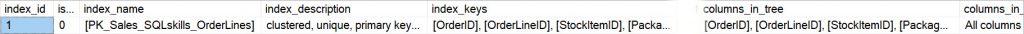 Four column clustered index for SQLskills_OrderLines