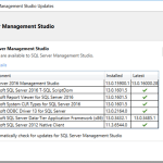 SQL Server Management Studio Changes and Servicing