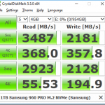 Initial CrystalDiskMark Results for Intel Optane 900p
