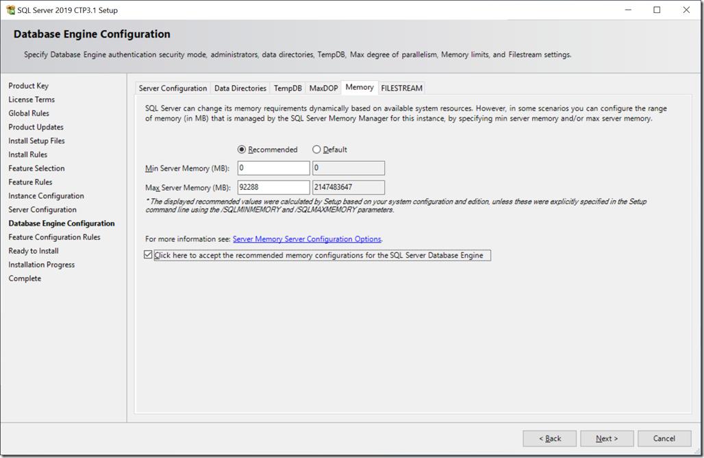 SQL Server 2019 CTP 3.1
