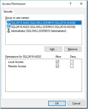 Repair Dcom Permissions