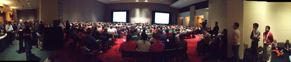 Bradley Ball's Pano shot of Ballroom A for my session