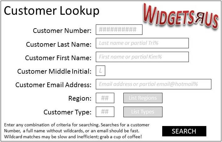 CustomerSearch